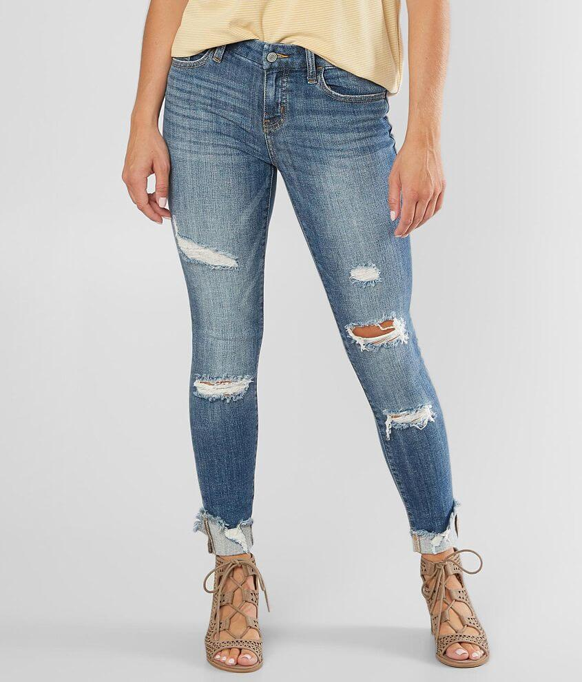 Willow & Root Mid-Rise Ankle Skinny Cuff Jean front view