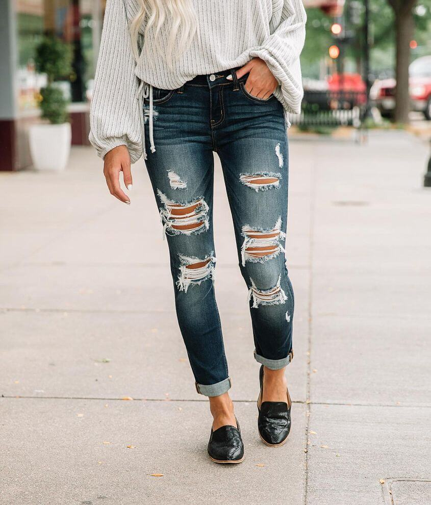 Willow & Root Mid-Rise Ankle Stretch Jean front view