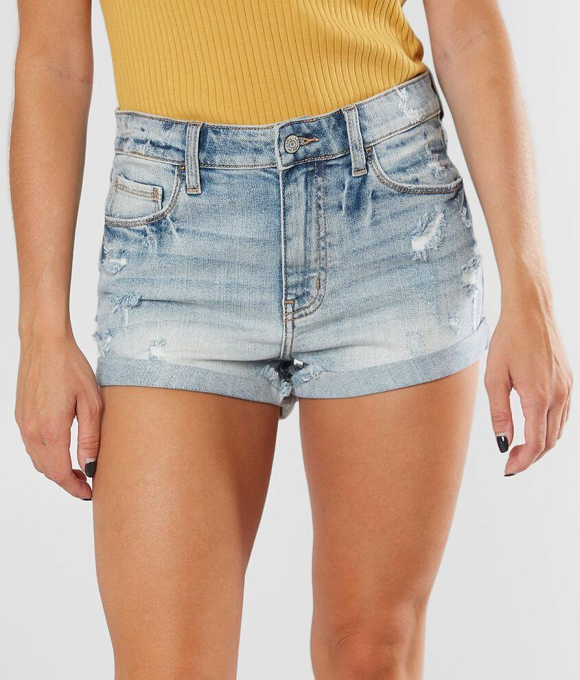 Willow & Root High Rise Stretch Cuffed Short front view