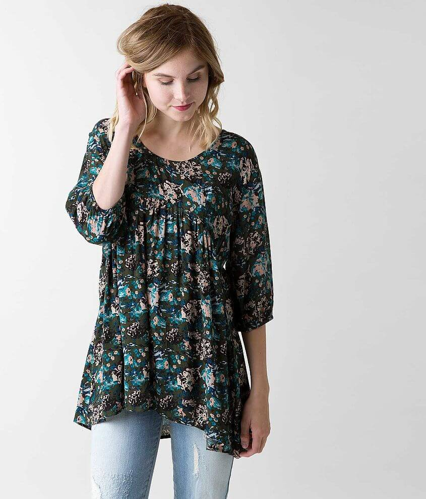 Knot Sisters Floral Top front view