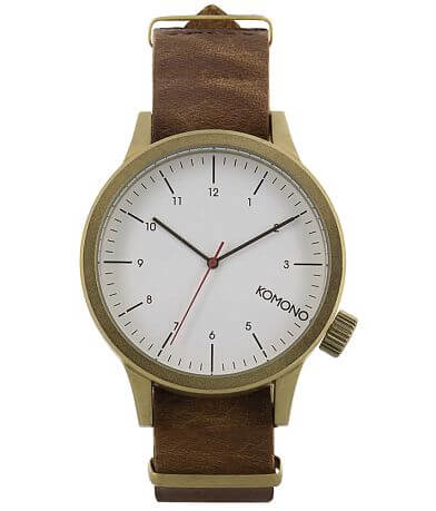 Komono Magnus Leather Watch