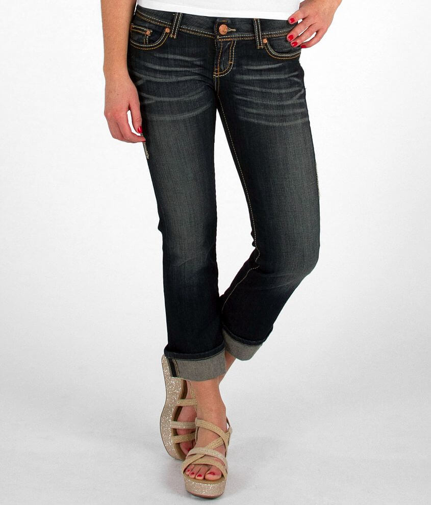 BKE Sabrina Stretch Cropped Jean front view