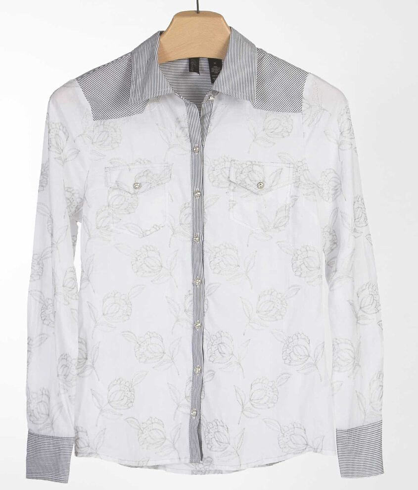 BKE Boutique Embroidered Shirt front view