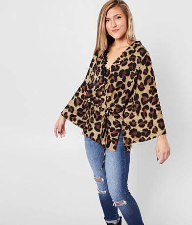 Sandy & Sid Leopard Dolman Wrap Kimono