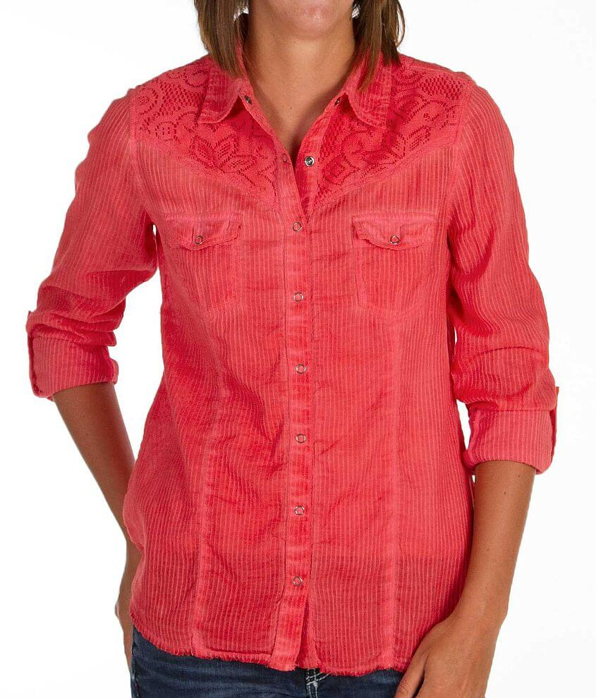 BKE Textured Stripe Shirt front view