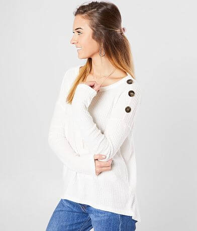 Sandy & Sid Brushed Waffle Knit Top