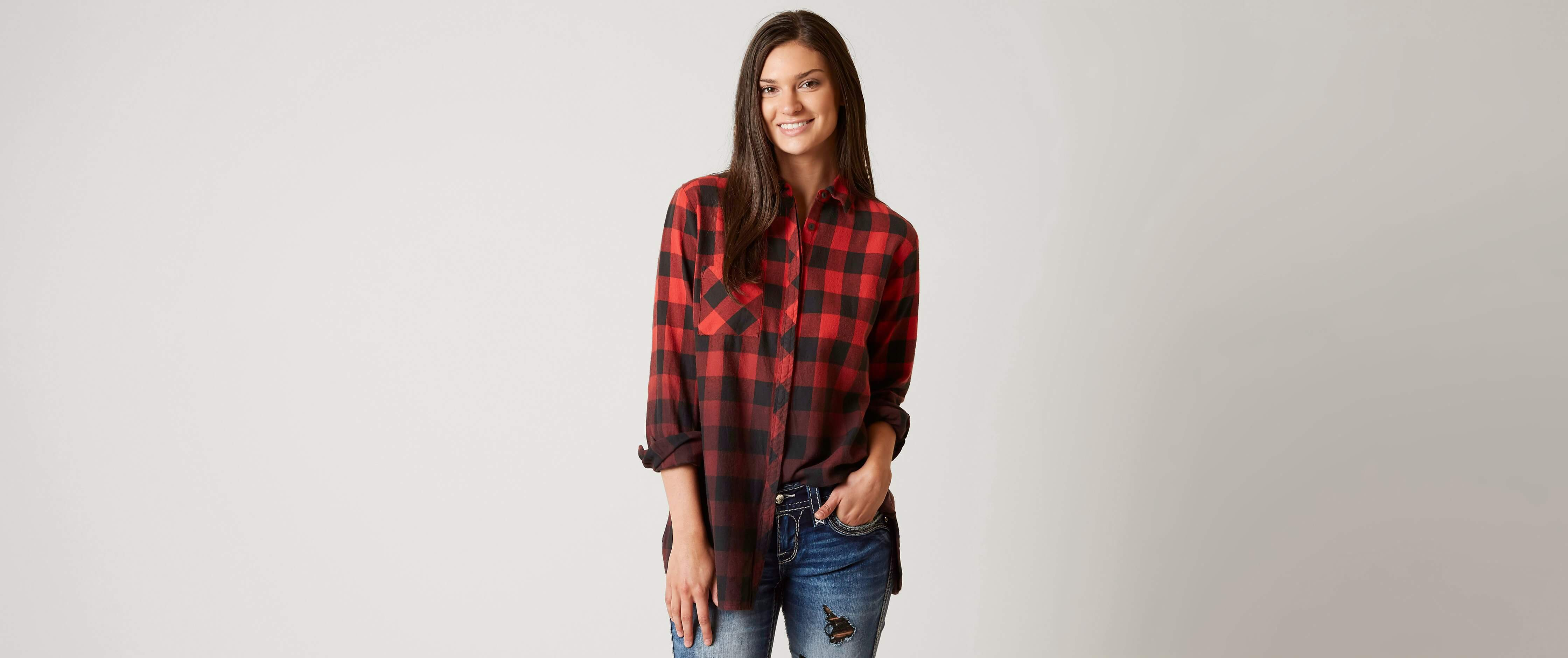 Buy Red tartan plaid shirts for women picture trends