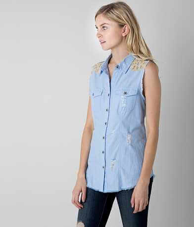 Gimmicks Frayed Chambray Shirt