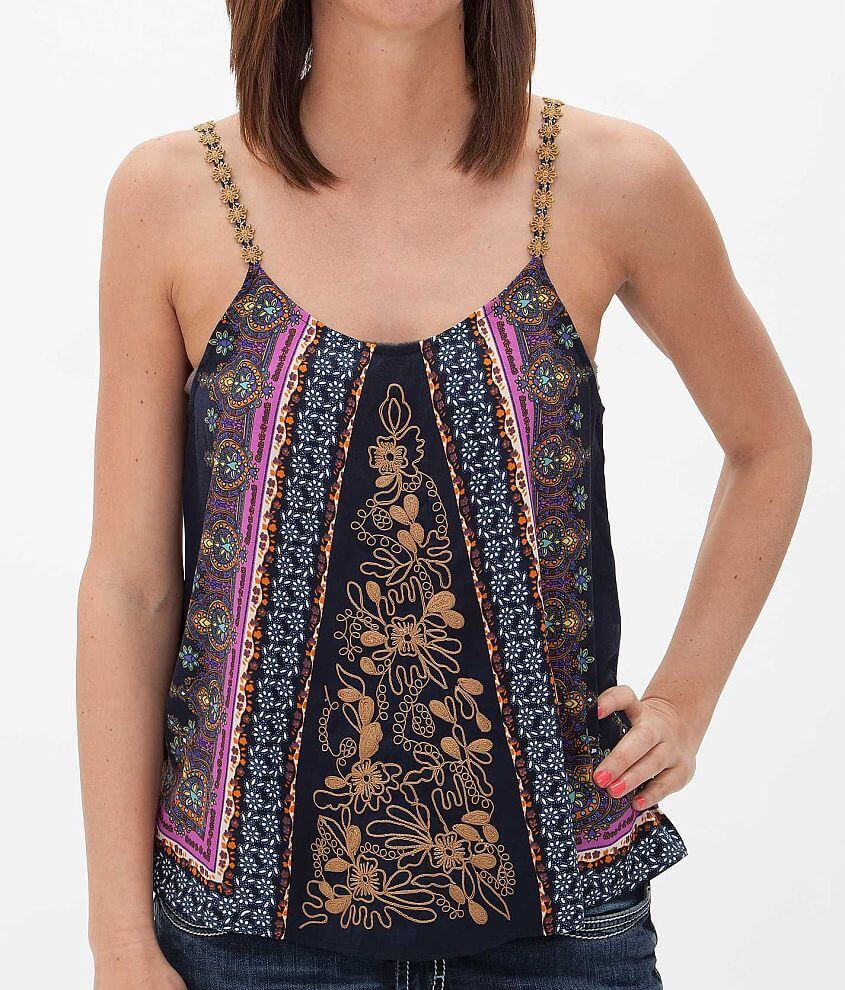 Gimmicks by BKE Floral Tank Top front view