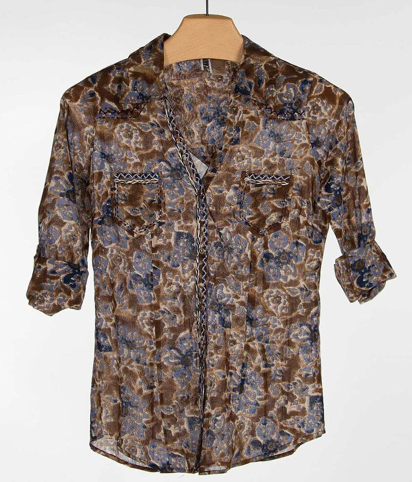 BKE Floral Print Shirt front view