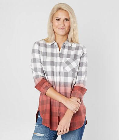 BKE Flannel Ombre Shirt