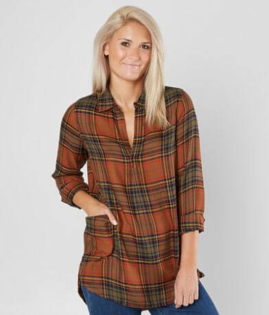 BKE Plaid Tunic Top