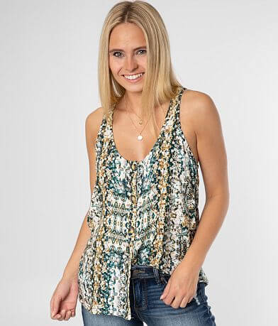 Daytrip Button Front Tank Top