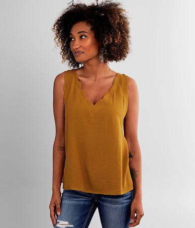 Willow & Root Scalloped Tank Top