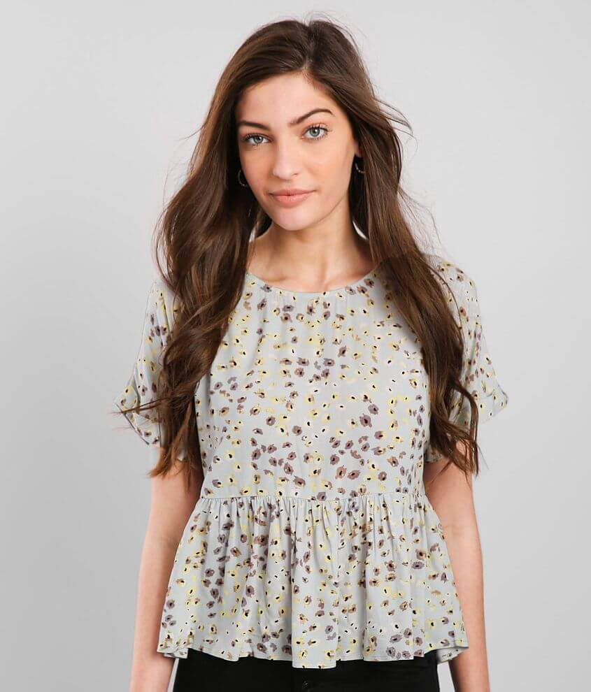 Daytrip Floral Peplum Top front view