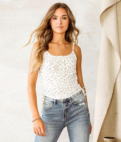 Willow & Root Dainty Floral Tank Top
