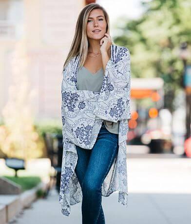 Willow & Root Woven Crinkle Kimono