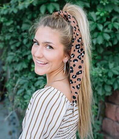 evelyn K Leopard Print Neckerchief Scarf