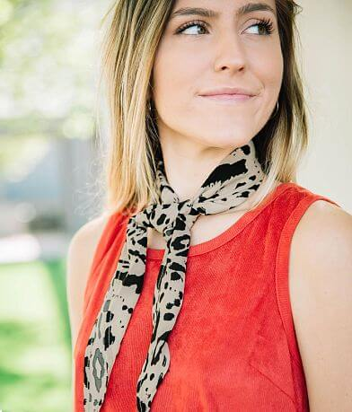 evelyn K Animal Print Neckerchief Scarf
