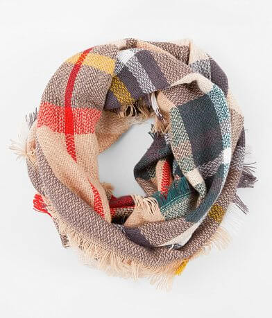 evelyn K Plaid Infinity Scarf