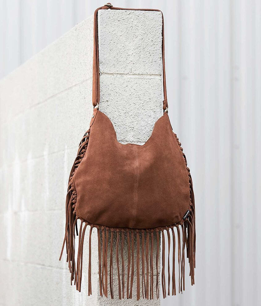 T Shirt Jeans Fringe Purse Womens Accessories In Cognac Buckle