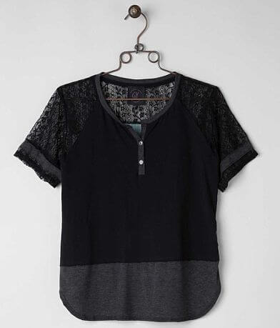 Generic Youth Pieced Henley Top