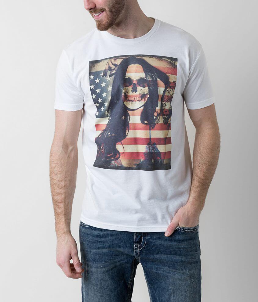 Riot Society Skull Girl T-Shirt front view