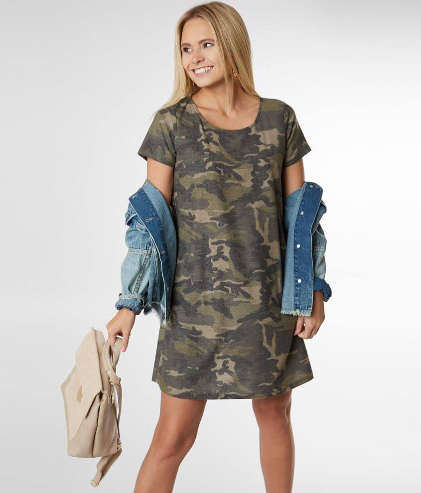 Daytrip Casual Camo Dress front view