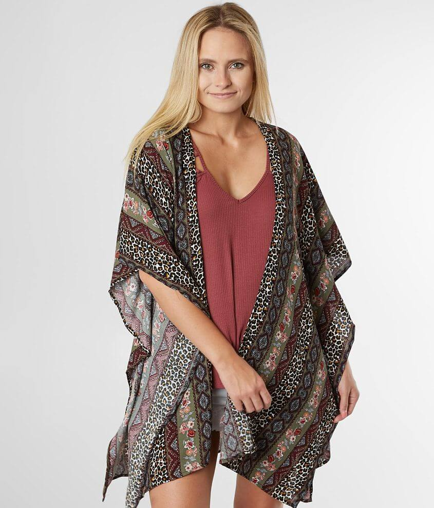 Willow & Root Flyaway Crinkle Kimono front view