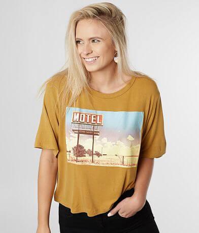 originality Motel Screen Print T-Shirt