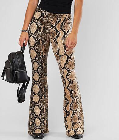 Daytrip Snake Print Flare Pant
