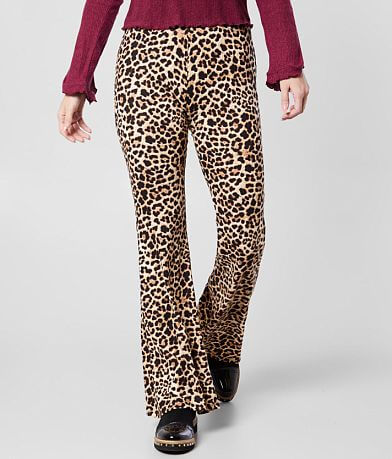 Daytrip Cheetah Print Flare Pant