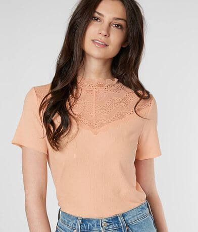 Daytrip Lace Mock Neck Top