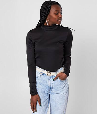 Gilded Intent Fitted Mock Neck Top