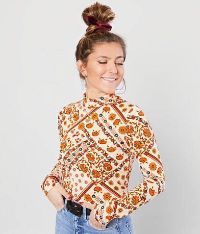 Willow & Root Retro Floral Top