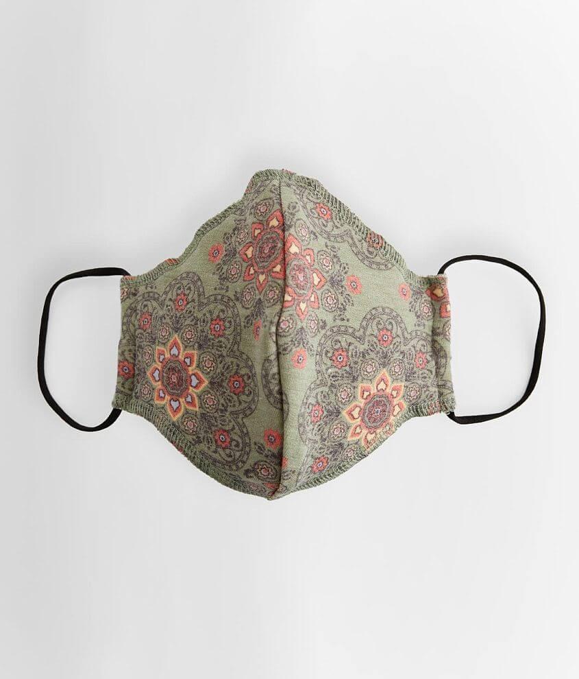 La La Land Medallion Print Face Mask front view