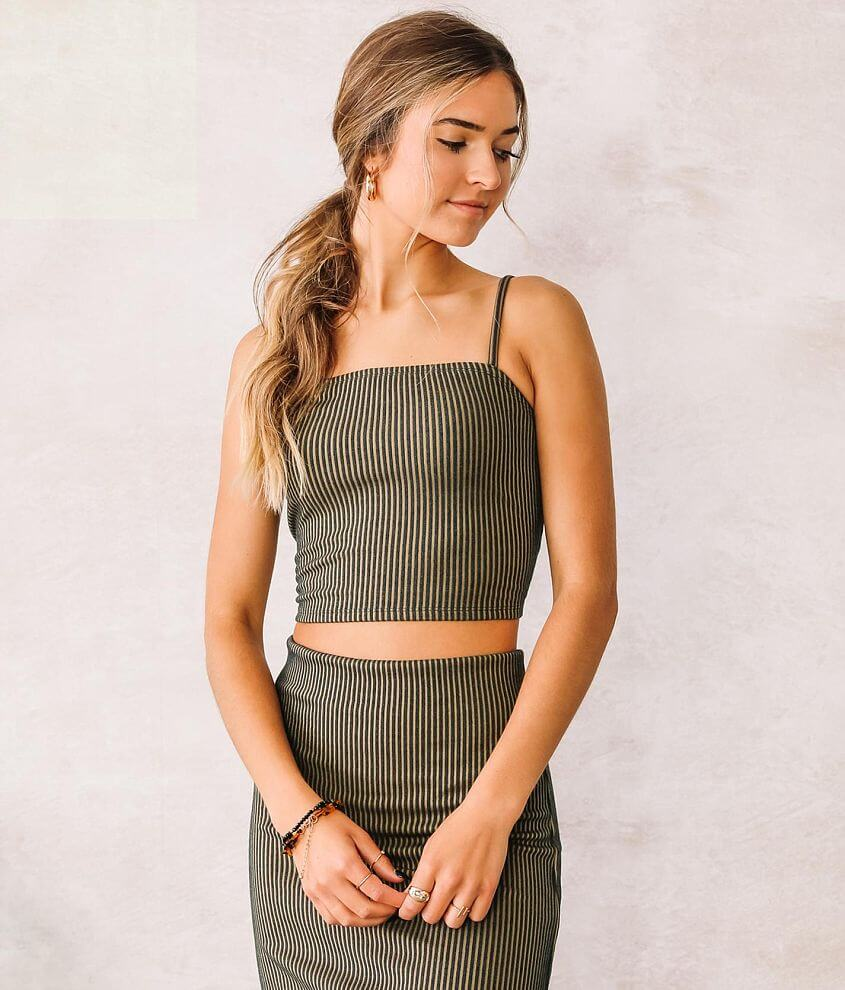 Willow & Root Cropped Tank Top front view