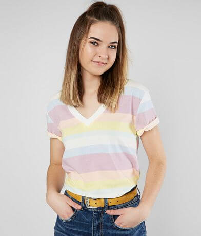 FITZ + EDDI Pastel Striped T-Shirt