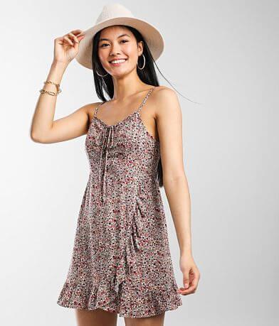 Daytrip Floral Lace-Up Dress