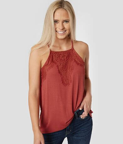 Daytrip Ribbed High Neck Tank Top