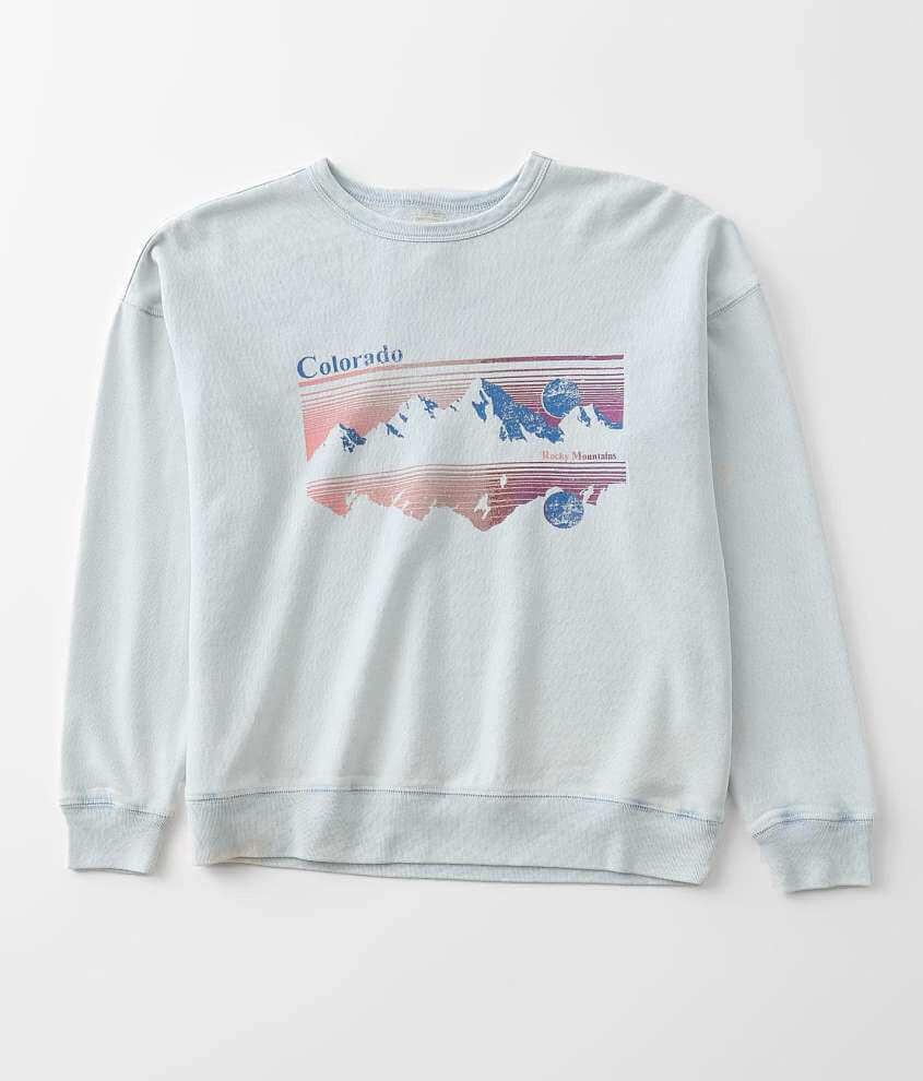 Girls - Modish Rebel Colorado Scenic Sweatshirt front view
