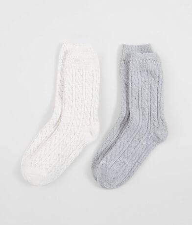 BKE Cable Knit 2 Pack Socks