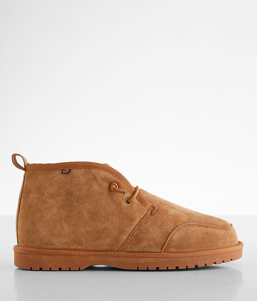 Lamo® Mason Pieced Suede Slipper Shoe front view