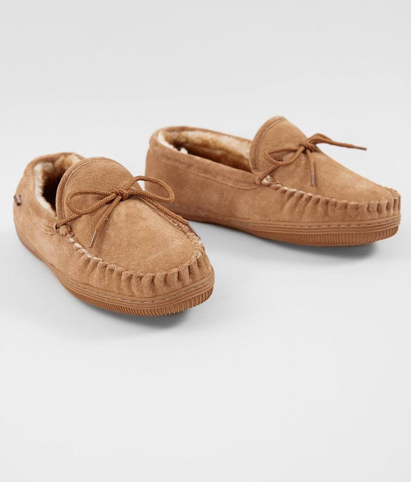 Lamo® Leather Moccasin Slipper front view