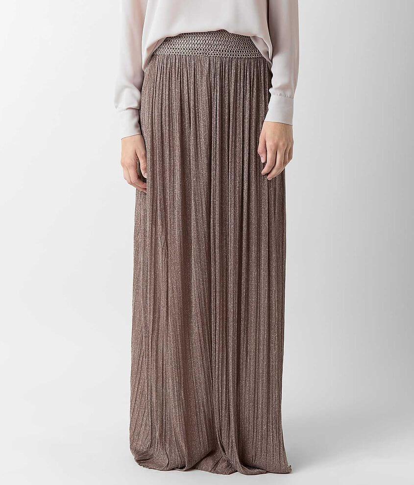 Soieblu Metallic Maxi Skirt front view