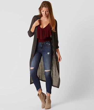 Lava Pointelle Cardigan Sweater