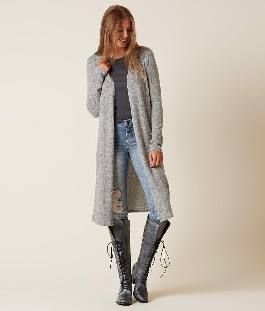 Daytrip Duster Cardigan Sweater - Women's Sweaters in Grey Marl ...