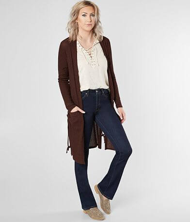 Daytrip Lace-Up Cardigan Sweater