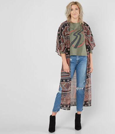 Daytrip Printed Chiffon Kimono