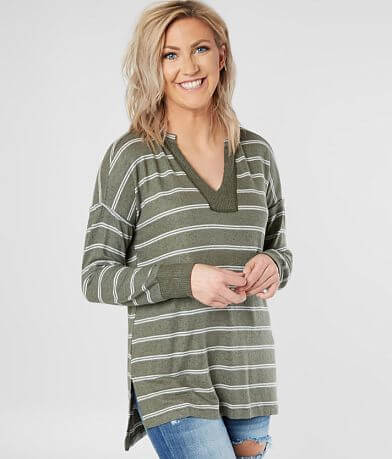 Daytrip Striped Hacci Top